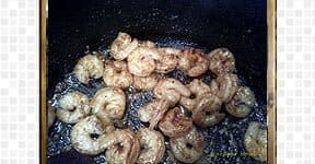 Shrimp Chettinad steps and procedures