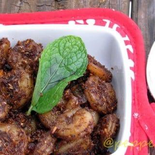 Chettinad Shrimp Sukka / Prawn Sukka