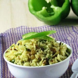 Capsicum Rice Recipe-Green Pepper Rice