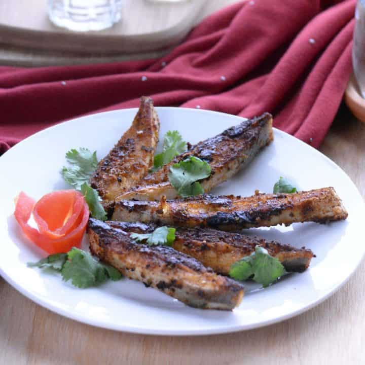 Chettinad Fish Fry, made with pepper. fennel seeds