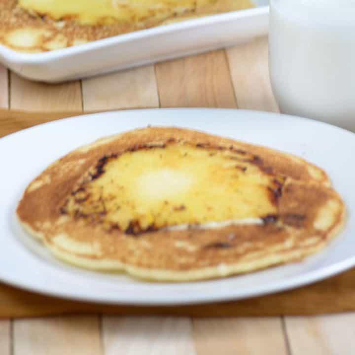 Pineapple upside-down pancake