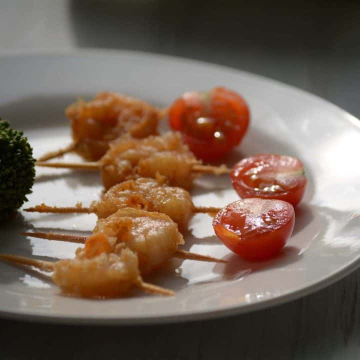 Shrimp Appetizer with toothpick, Easy Party Food