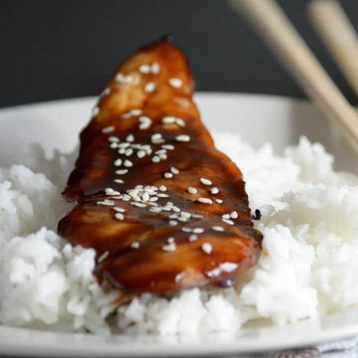 'Teriyaki chicken' is my cheat version of this recipe