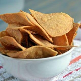 Easy Baked Tortilla Chips Recipe-Baked Corn Tortilla Chip Recipe