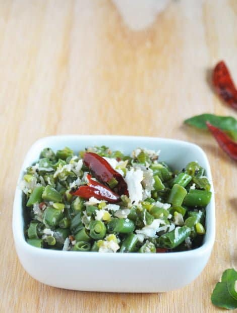 Green Bean Stir Fry-Beans Poriyal Recipe
