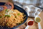 Easy Spicy Szechuan Noodles Recipe - Indo Chinese Vegetarian Recipe