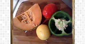 Cantaloupe Salad steps and procedures