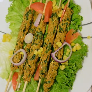 Coriander Chicken Seekh Kabab Baked Recipe