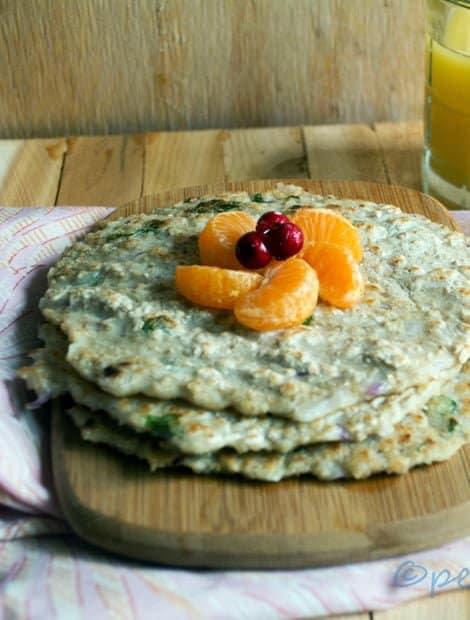 Instant Oats Pancake - Oats Adai Recipe