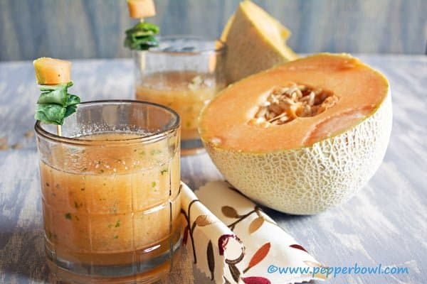 Cantaloupe Mint Juice-a Perfect Summer Drink
