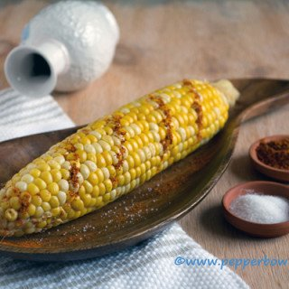 Lemon drizzled Sweet Corn Cob