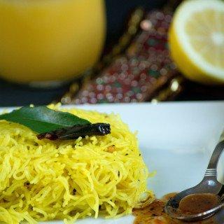 Lemon Semiya - Vermicelli Yellow Recipe