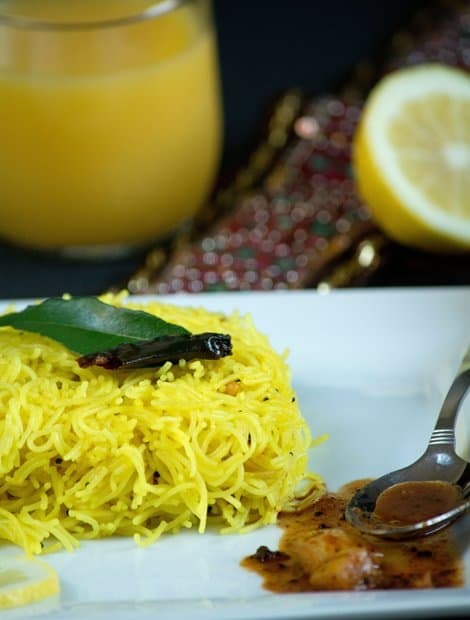 Lemon Semiya - Vermicelli Yellow Recipe