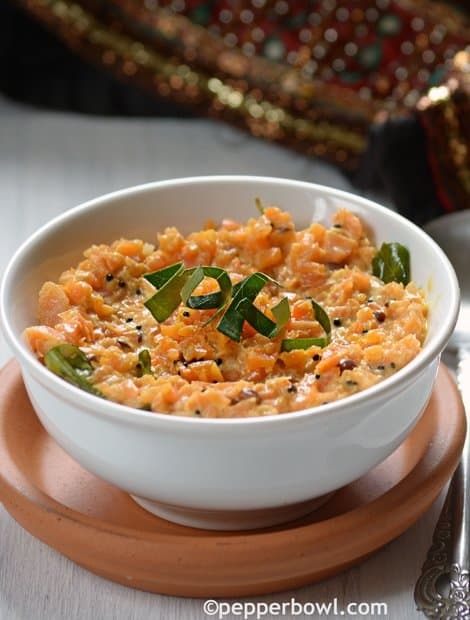 Carrot Pachadi - Carrot yogurt Salad - Kerala Style