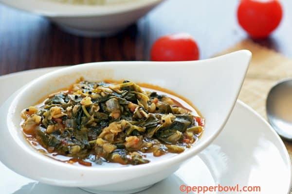 Vendhaya Keerai Kootu-Methi Leaves with Lentils