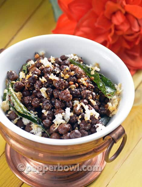 Kondakadalai Kara Sundal-Black Chickpea Navarathri Recipes