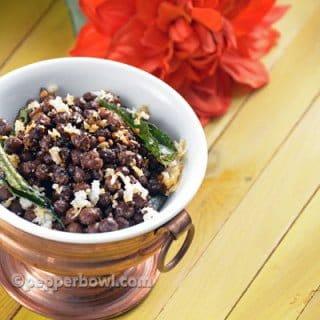 Kondakadalai Kara Sundal-Black Chickpea Navarathri Recipes