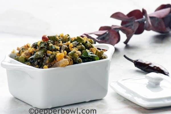 Karamani Usili-Yard Long Beans with Lentils