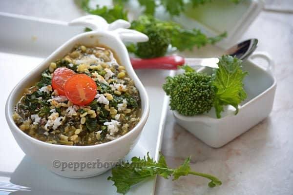 Broccoli Rabe Kootu-South Indian Version