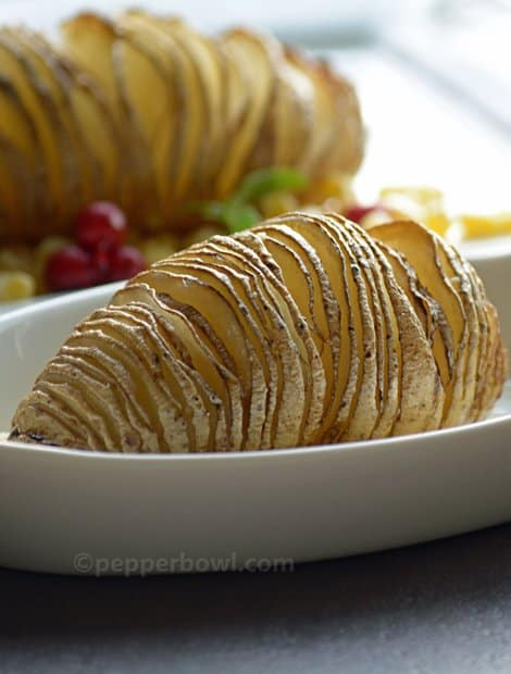 Hasselback potato recipe-Baked