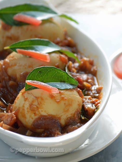 Egg Gravy Chettinad Style-Muttai Thokku