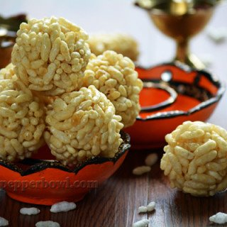 Pori Urundai - Puffed Rice Balls, a festive recipe