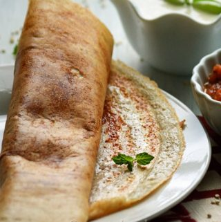 Quinoa Dosa Recipe, super food because of its high protein content customized to South Indian breakfast style