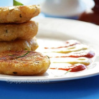 Sago Potato Tikki-Javarisi Cutlet Recipe