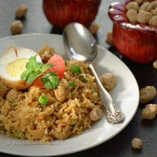 Soya Chunk Biryani – Easy Lunch Box Recipe
