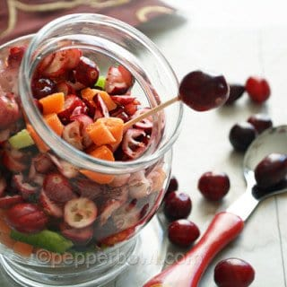 Cranberry Carrot Salad, a great substitute for Pickles