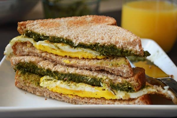 Coriander Bread Sandwich-a Healthy Breakfast