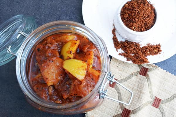 This Lemon pickle South Indian style recipe is hot, spicy, tangy stays good up to a months time. This recipe is also perfect for thick skinned lemons, which is available in western countries.
