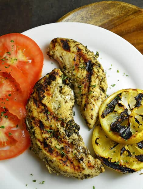 This cedar grilled lemon chicken recipe is best suited for the chicken breasts, chicken tenderloin.
