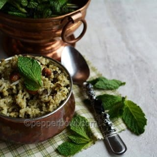 Easy Pudina Rice Recipe – Mint Pulav