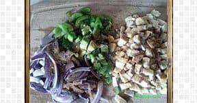 Vegetarian Stramboli steps and procedures
