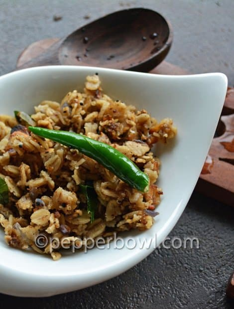 Oats Upma-a breakfast recipe under 10 minutes