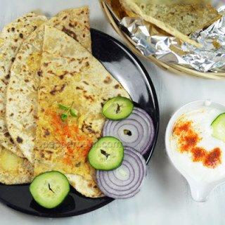 Aloo Paratha-Potato Stuffed Flat Bread