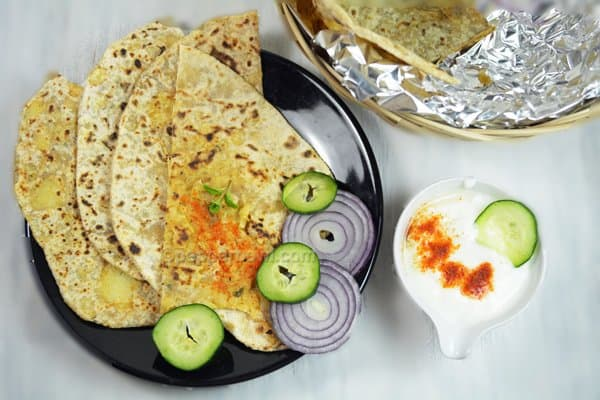 Aloo Paratha-Potato Stuffed Paratha