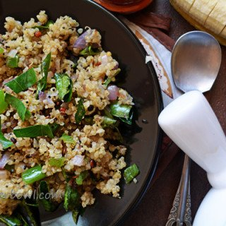 Quinoa Upma-healthy vegetarian breakfast