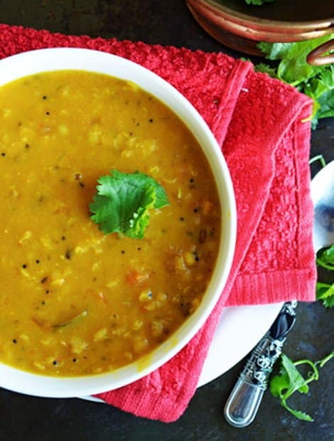 Tomato Pappu-Andhra style Lentils with Tomato