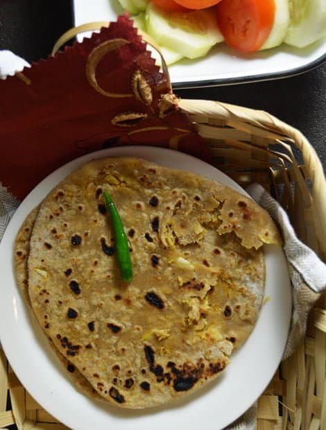 Gobi Paratha Recipe-Cauliflower stuffed Roti