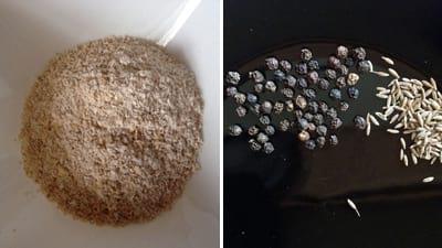 preparing oats, pepper and cumin for making oats adai or oats pancake