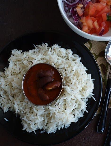 Rajma Masala-Rajma Chawal-Spiced Red Bean Gravy