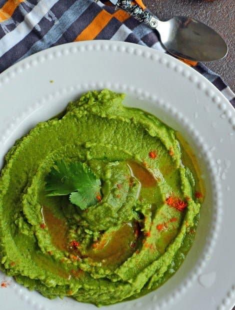 Coriander Jalapeno Hummus / A Chenna Dal Recipe