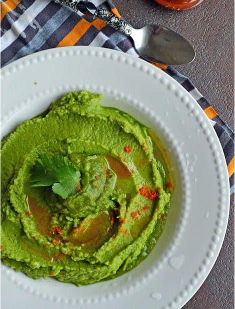 Cilantro Jalapeno hummus / A Chenna Dal Recipe