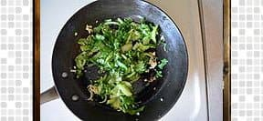 Bok Choy Fried Rice steps and procedures