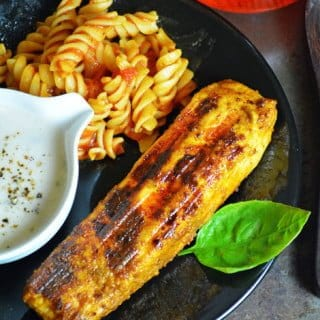Grilled Salmon Fish with 3 main ingredients