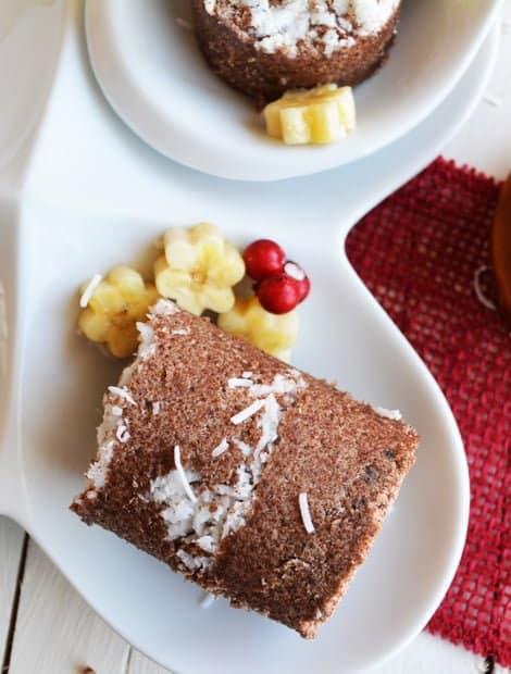 Raggi Puttu with Maple Syrup - Steamed Finger Millet