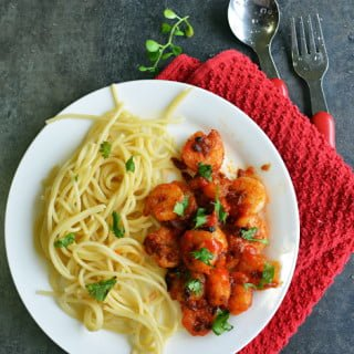 Super Spicy Sriracha Garlic Shrimp