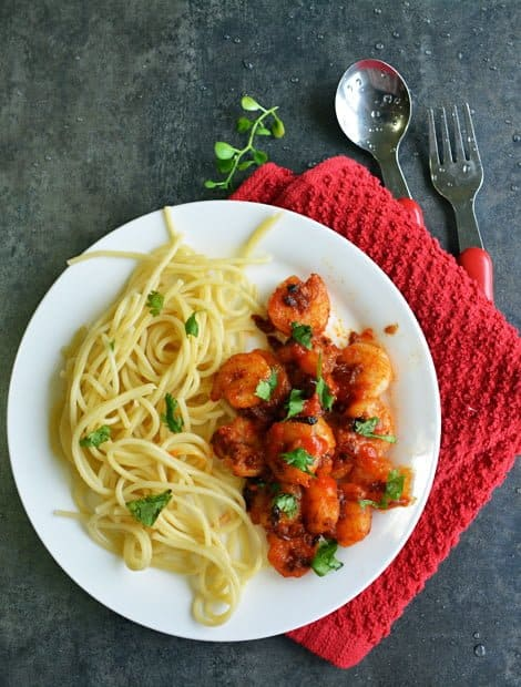 Sriracha shrimp pasta is simple and easy. Its delicious and spicy recipe can be made in moments, get ready to spice up dinner time.
